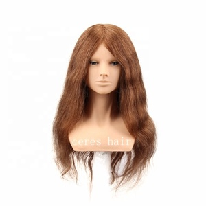 Best barber training head with shoulders, wholesale 100 human hair mannequin head