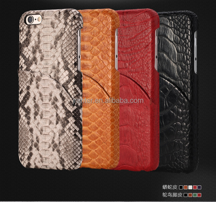 China for Iphone Case Real Python Snakeskin, for Iphone 6 Leather Case