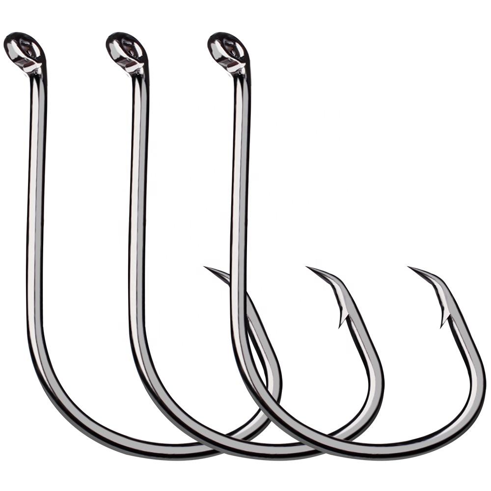 100Pcs 32808 3//0 Offset Shank Worm Fishing Hooks High Carbon Steel Fish Hooks