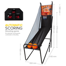 Hot Sale Foldable Electric Basketball Scoring Machine Basketball Shooting Game
