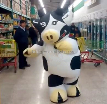 Hola white and black inflatable cow costume/dancing cow costume & Hola White And Black Inflatable Cow Costume/dancing Cow Costume ...