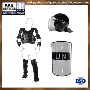 Hot sale self defense leather material anti riot suit for controlling
