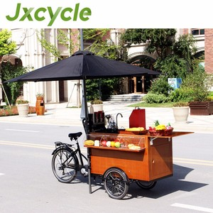 Stylish coffee bike trailers new coffee tricycle electric cargo bike