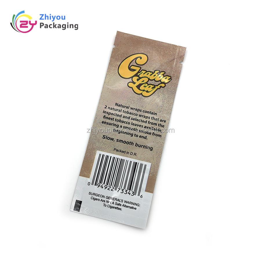 Individuell bedruckte aluminium folie beutel tabak blatt verpackung taschen