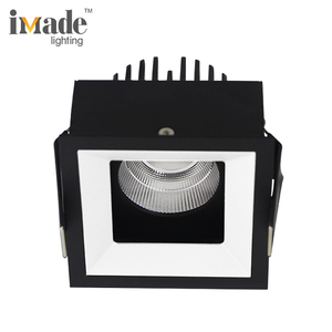 NEW Products Quality heatsink cob 12w 18w recessed square led downlight color black