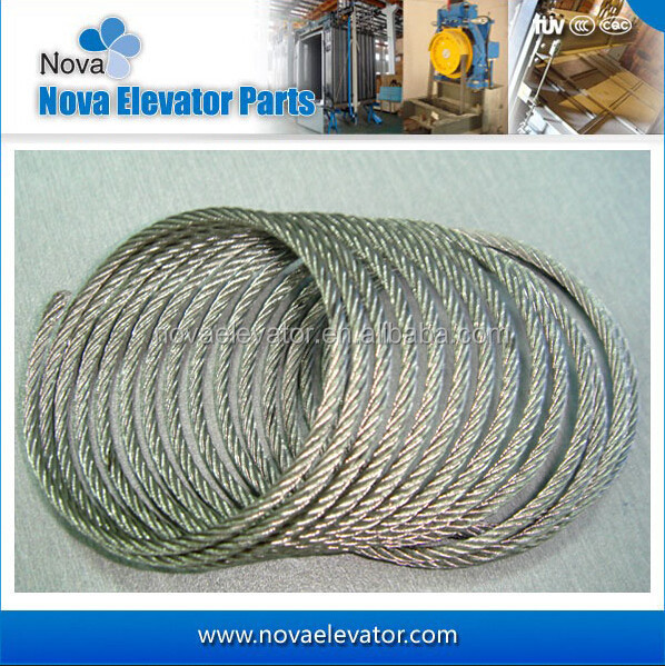 8*19W+FC, Steel Wire Rope for Elevator Traction, Speed Governor and Tension Device