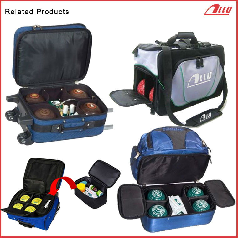 Durable lawn bowls bag with bottom compartment