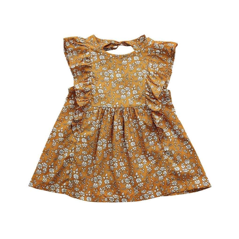 0c8df54e1e6 Get Quotations · Hatoys Cute Ruffles Sleeveless Dress