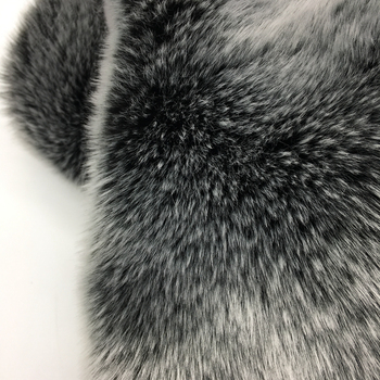 Elegance Chic Luxury Modacrylic Eco Fur Fabric Frosted Tip Faux Chinchilla Fur