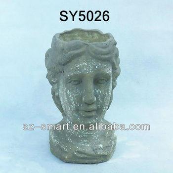 Man head garden handmade statue flower pot  sc 1 st  Alibaba & Man Head Garden Handmade Statue Flower Pot - Buy Garden ...