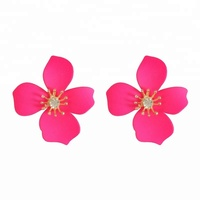New Arrivals Jewelry Hot Selling Summer Autumn Items Metal Alloy Flower Stud Earrings