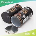 Bean Packaging Coffee Packaging Box Customized Cylinder Air Valve Coffee Bean Paper Packaging Boxes