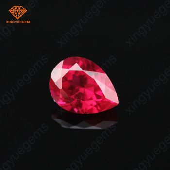 Cheap price ruby red glass stone ruby stone price india