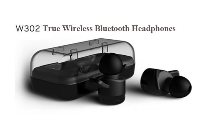 w302 earphone wireless earbuds with charging box wireless earplug headphones. Black Bedroom Furniture Sets. Home Design Ideas