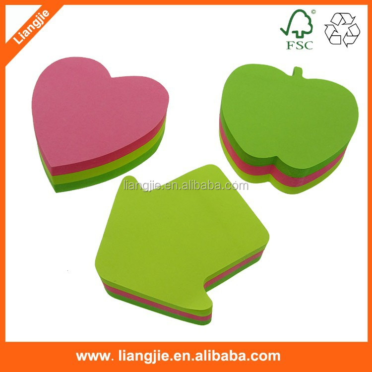 apple shape,apple shape sticky note ,neon index in apple shape
