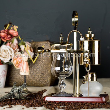 Gold royal balancing syphon coffee maker, classical elegant coffee maker ,belgium coffee maker