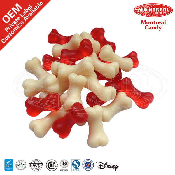 Red Mix White Confectionery Bone Shaped Candies