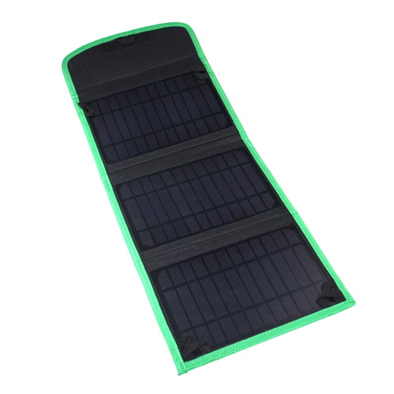 3 Layer Solar Charger 10.5W Waterproof Foldable Outdoor Solar Panel Cell Battery Charger For Mobile Phone Computer USB Charger