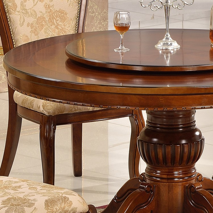 Restaurant Furniture Round Rotator Dining Table With Rotating Center