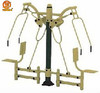 Outdoor fitness equipment -double sitting push training device