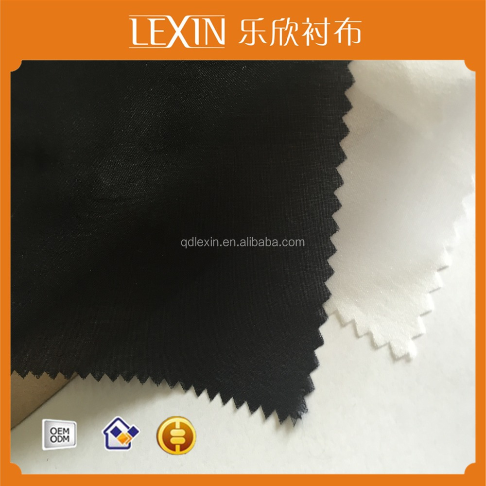 100% polyester double dot PA fusing woven interlining