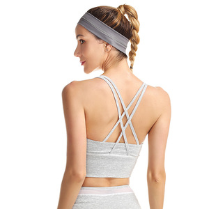 Fitness Workout gym Padded top cross back yoga custom sports bra
