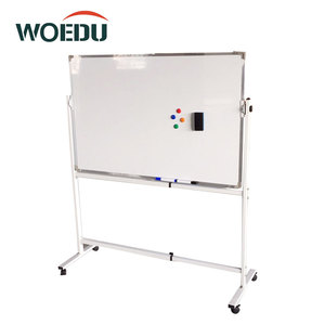 Movable Adjustable Aluminium Frame Steel Stand Double Side Dry Eraser Magnetic White Board
