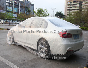 PE plastic disposable protective custom printed car cover