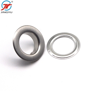 Custom high quality fancy metal brass screw ring painted eyelets grommet for garment