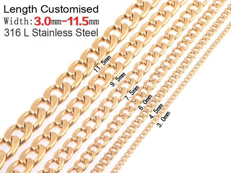"New Gold Chain Design for Men 4/5/6 mm Thick Stainless Steel Snake Chain 45 55 60"" inch Length Silver Plated Necklace"