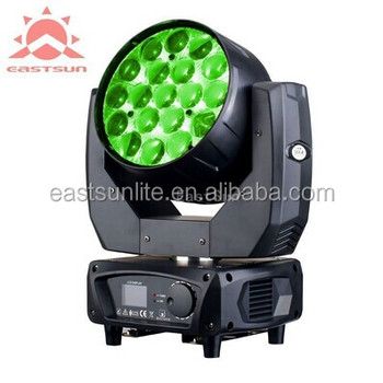 Led Rgbw 19x15w Auto Scanner Moving Head Light 14 25 Dmx Channels Used Stage Lighting For