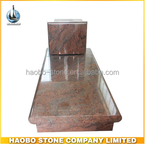 Haobo Stone Italian Style Multicolor Red Headstones for Graves