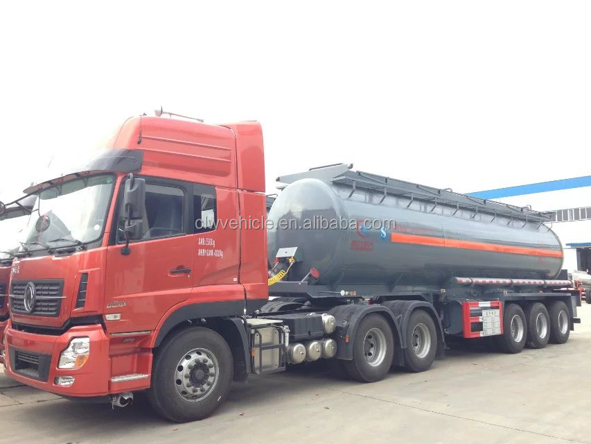 chemical liquid transport tanker truck fuel delivery truck