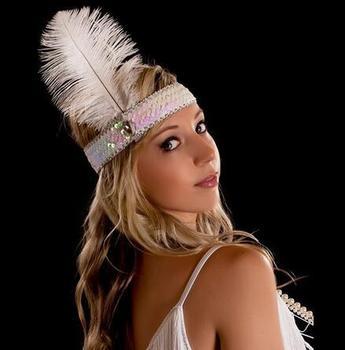Indian Headband Feather Rhinestone Headpiece Sequin 1920 s Headband  Halloween Hair Accessory Cosplay 5cbeb368b1b