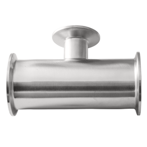 A270 SS304 SS316L Stainless steel Sanitary pipe Fitting Clamp Reducing Tee .