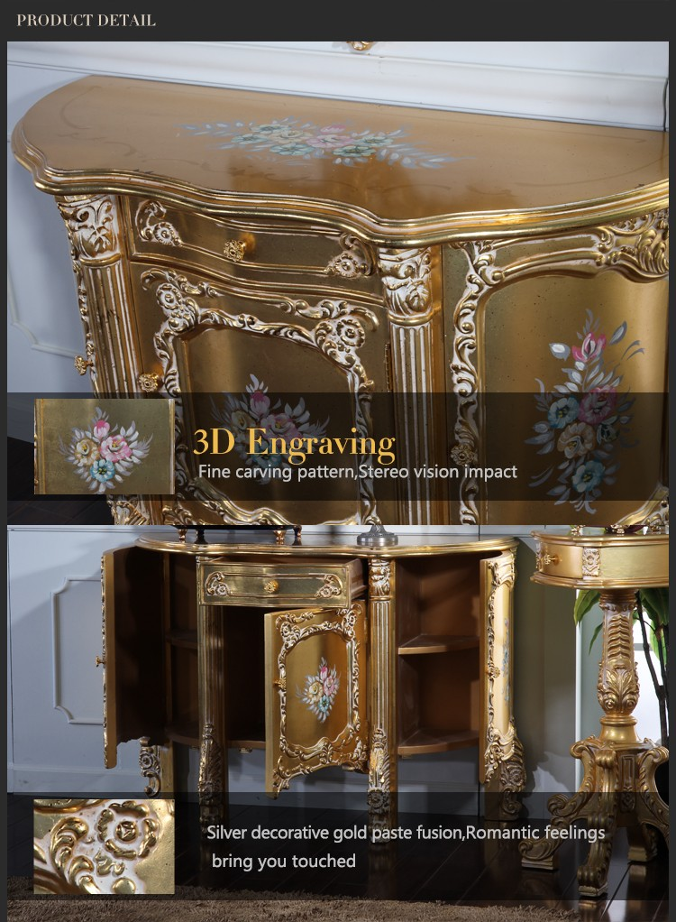 Italian French Antique Furniture Baroque Handcraft Cracking