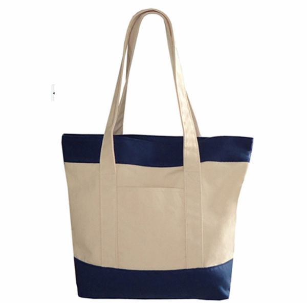 2014 Wholesale Plain Canvas Large Tote And Rope Handle Beach Bag ...