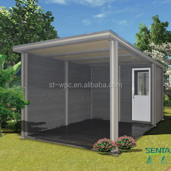 Low labour cost environmental wpc portable storage containers