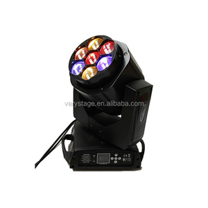 7x15W RGBW 4 in 1 bee eye Beam Zoom wedding LED dj Stage rotating club effect Lights