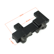 AK 47 gun accessoires <span class=keywords><strong>aluminium</strong></span> AK-Mount3 matte medium <span class=keywords><strong>scope</strong></span> mount svt 40 riser chinese leverancier