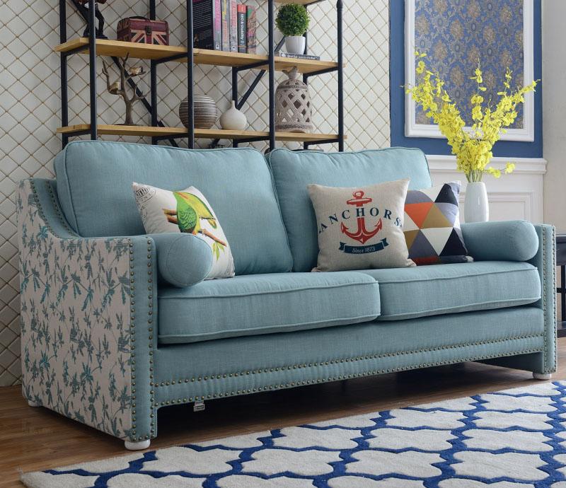 Elegant American Style Fabric Sofa Set