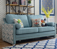 2017 Latest elegant American style fabric sofa set modern design furniture for heavy people in the living room