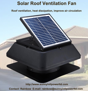 Vent Tool 20 Watt Solar Attic Fan With Power Storable And Rechargeable  Battery System Dc Motor Solar Panel Attic Exhaust Fan - Buy Solar Attic