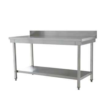 Restaurant Equipment Kitchen Stainless Steel Fabrication Double Shelf  Working Table With Square Legs   Buy Restaurant Kitchen Table,Stainless  Steel ...