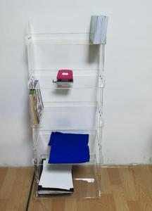 Clear Leaning Acrylic Bookshelf Wholesale Suppliers