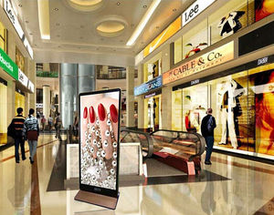 Indoor super bright led walking display video/graphic advertising suitable for shopping mall/metro station/brand store/restauran