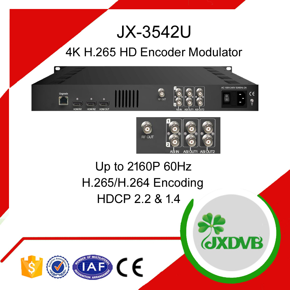Ultra HD 4k 2160P H 265 DVB C/T Encoder Modulator, View dvb s2 modulator,  Jiexiang Product Details from Chengdu Jiexiang Technology Company Ltd  on