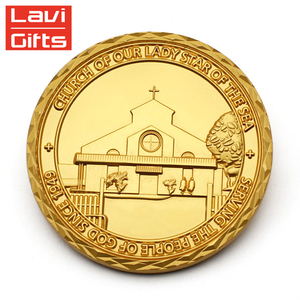 Gold Plated Coin Wholesaler Makers Custom Fashion 3D Die Casting Real Gold Coins