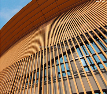 Wall Sunscreen Facade Vitrified Terracotta Rod Terracotta