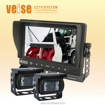 Waterproof Monitor Rearview Back Up Camera System for Tractor,Cultivator,Plough,SUV, Excavator, Boat